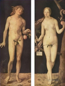 adam Painting - Adam and Eve Albrecht Durer Classic nude