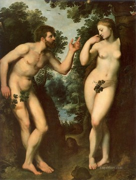 adam Painting - Adam and Eve Peter Paul Rubens nude