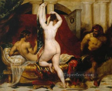 Wife Deco Art - Candaules King of Lydia Shews his Wife by Stealth to Gyges One of his Ministers as S William Etty nude