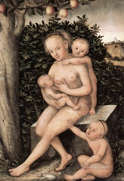 Charity Lucas Cranach the Elder nude Oil Paintings