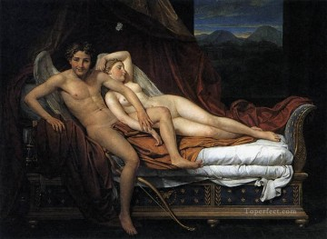 Cupid and Psyche Jacques Louis David nude Oil Paintings