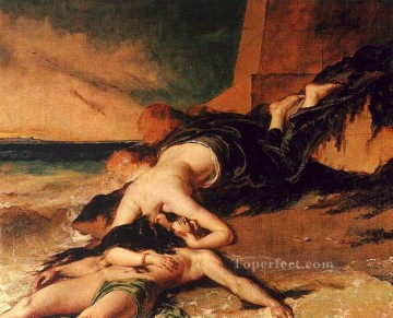 hero beijing opera jacky chen Painting - Hero and Leander William Etty nude
