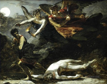 Justice and Divine Vengeance Pursuing Crime study Romantic nude Pierre Paul Prud hon Oil Paintings