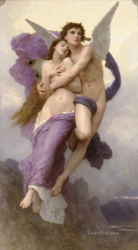 Le ravissement de Psyche angel William Adolphe Bouguereau nude Oil Paintings