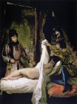 Louis dOrleans Showing His Mistress Romantic Eugene Delacroix nude Oil Paintings