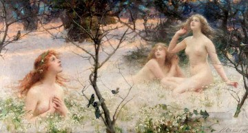 Mythes et legendes Henrietta Rae Classical Nude Oil Paintings