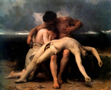 The First Mourning William Adolphe Bouguereau nude Oil Paintings