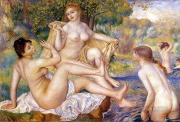 bath girl oil painting Painting - The Large Bathers female nude Pierre Auguste Renoir