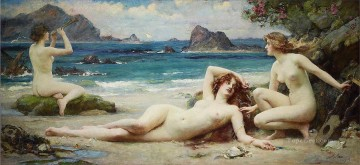 The Sirens Henrietta Rae Classical Nude Oil Paintings