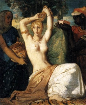 Classic Nude Painting - The Toilet Of Esther romantic Theodore Chasseriau nude