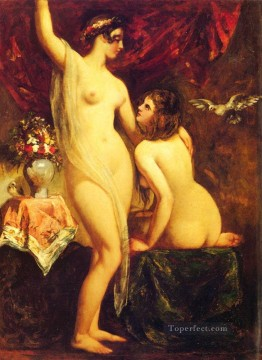 Two Nudes In An Interior female body William Etty Oil Paintings