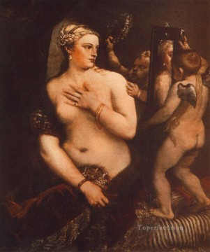 Artworks in 150 Subjects Painting - Venus at her Toilet nude Tiziano Titian
