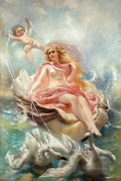 fairy and swans Classic nude Oil Paintings