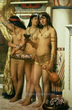 Classic Nude Painting - pharaoh s handmaidens 1883 2 John Collier Classical Nude