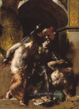 Britomart Redeems Faire Amoret William Etty nude Oil Paintings