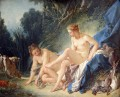 Diana getting out of her ba Francois Boucher Classic nude