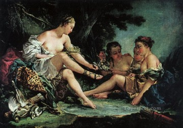 Return Art - Dianas Return from the Hunt Francois Boucher nude