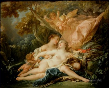 Jupiter In the Guise of Diana Francois Boucher Classic nude Oil Paintings