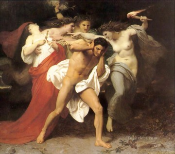 Sue Painting - Orestes Pursued by the Furies William Adolphe Bouguereau nude
