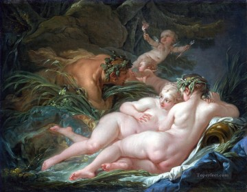 Classic Nude Painting - Pan and Syrinx Francois Boucher Classic nude