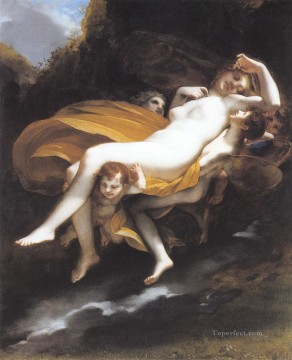 Psych enleve par les zephyrs Romantic nude Pierre Paul Prud hon Oil Paintings