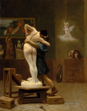 rome Painting - Pygmalion And Galatea Jean Leon Gerome Classical Nude