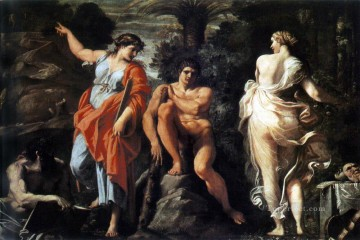 Classic Nude Painting - The Choice of Heracles Annibale Carracci nude
