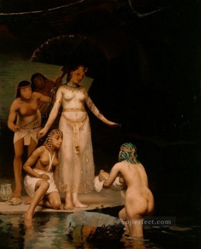 Peel Art Painting - The Discovery of Moses female nude Paul Peel