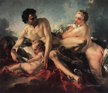 The Education Cupid Francois Boucher Classic nude Oil Paintings