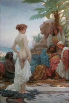 Slave Painting - The White Slave Ernest Normand Classical Nude