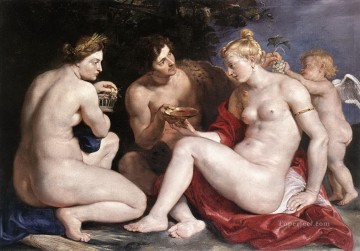 venus Painting - Venus Cupid Bacchus and Ceres Peter Paul Rubens nude