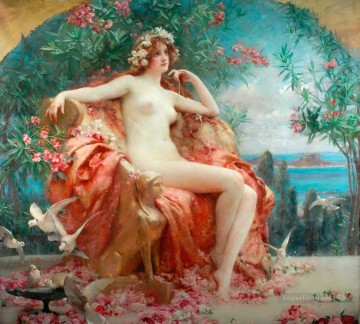 rose roses Painting - Roses of Youth Henrietta Rae Classical Nude