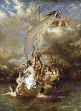 row - Youth at the Prow Pleasure at the Helm William Etty nude