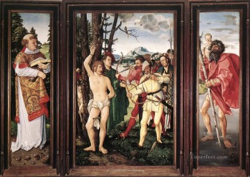 Altarpiece Painting - St Sebastian Altarpiece nude painter Hans Baldung