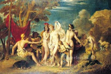 The Judgement of Paris William Etty nude Oil Paintings