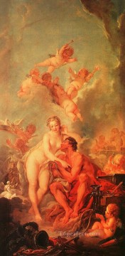 baptism of christ Painting - The Visit of Venus to Vulcan Francois Boucher nude