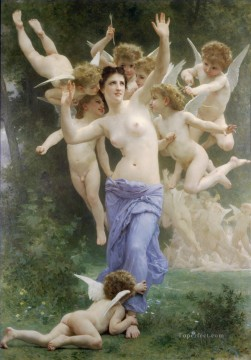 Le guepier angel William Adolphe Bouguereau nude Oil Paintings