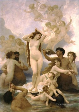 venus Painting - Naissance de Venus William Adolphe Bouguereau nude
