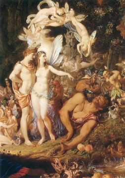 Classic Nude Painting - Paton The Reconciliation of Oberon and Titania Classic nude
