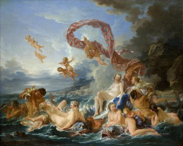 venus Painting - The Birth and Triumph of Venus Francois Boucher Classic nude