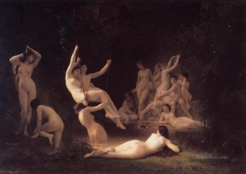 Classic Nude Painting - The Nymphaeum William Adolphe Bouguereau nude