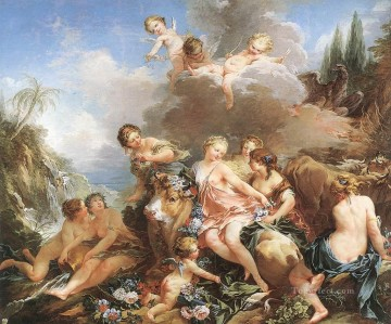 The Rape of Europa Francois Boucher nude Oil Paintings