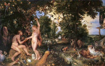 adam Painting - adam and eve big Peter Paul Rubens nude