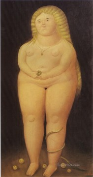 Adam and Eve Eve Fernando Botero nude Oil Paintings