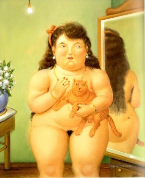 Color photograph Painting - The Athenaeum Fernando Botero nude
