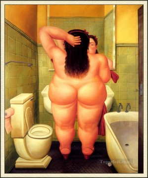 Color photograph Painting - The Bath Fernando Botero nude