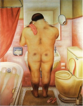 Color photograph Painting - Tribute to Bonnard 2 Fernando Botero nude