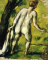 Bather from the Back Paul Cezanne Impressionistic nude