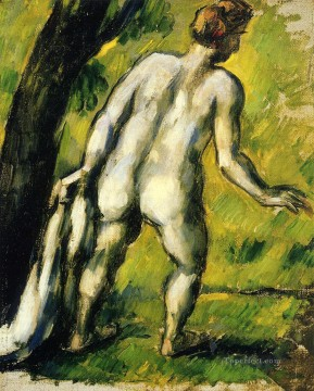 Nude and Ballerina Painting - Bather from the Back Paul Cezanne Impressionistic nude
