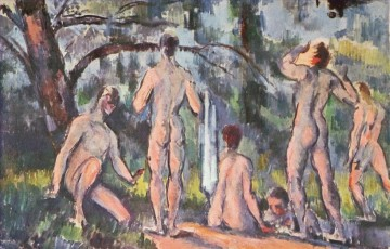 Nude and Ballerina Painting - Study of Bathers Paul Cezanne Impressionistic nude